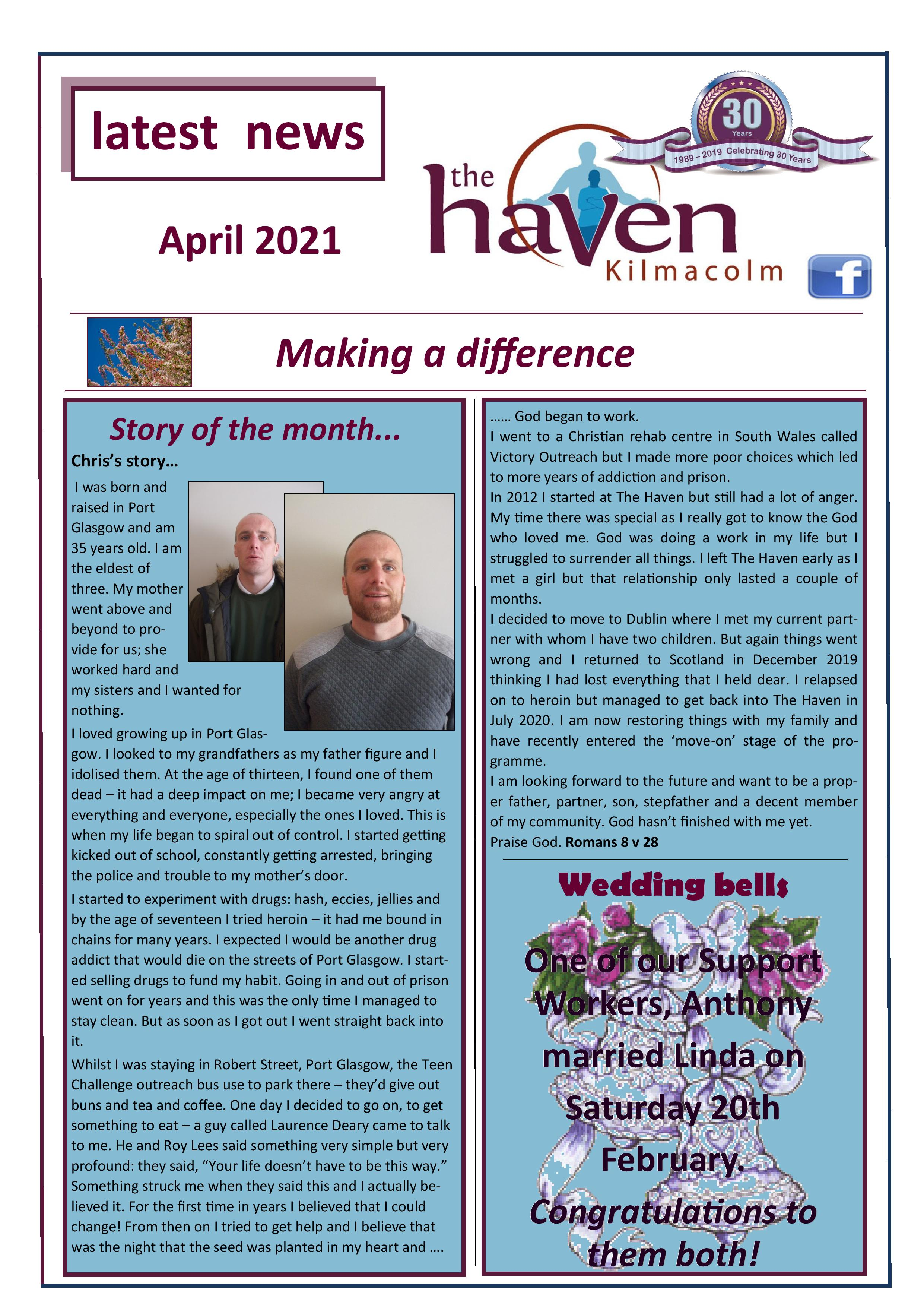 Haven Newsletter April 2021 page 001